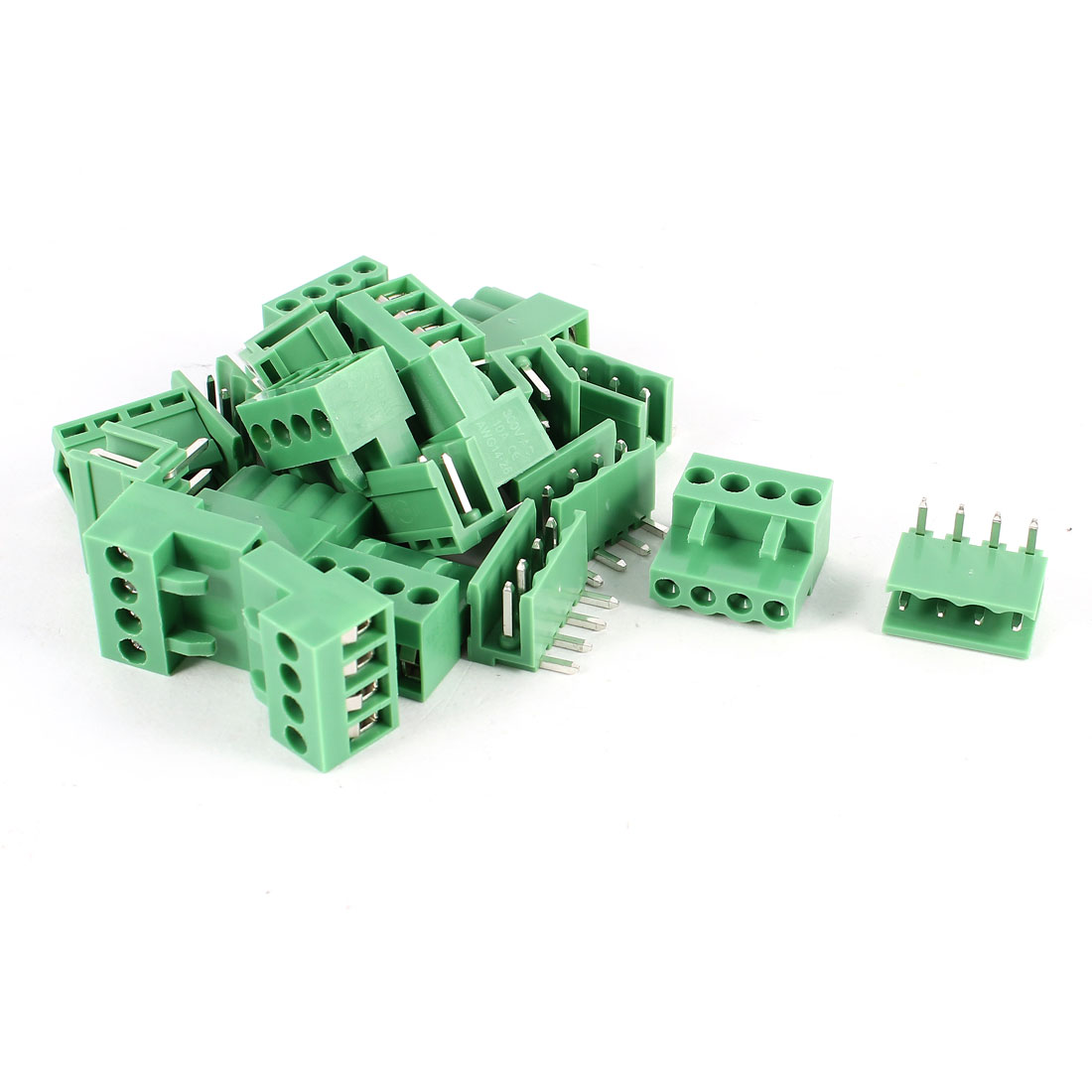 10 Set 3.96mm Pitch Female Bent Pin Header PCB Pluggable Terminal Block Connector