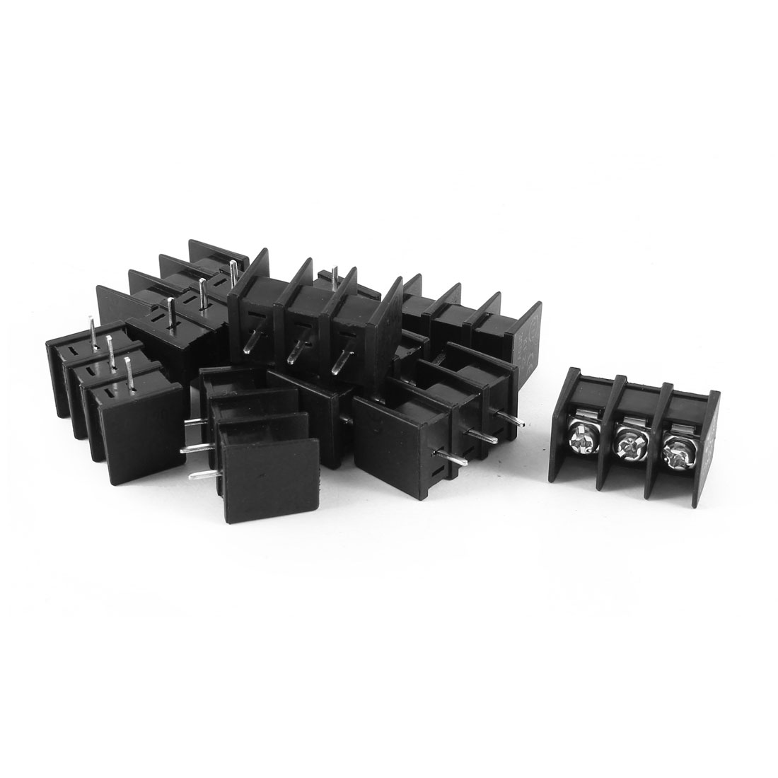 10 Pcs KF25C-3P 3P 7.62mm Pitch Wire Connector Screw Terminal Barrier Blocks 300V 20A