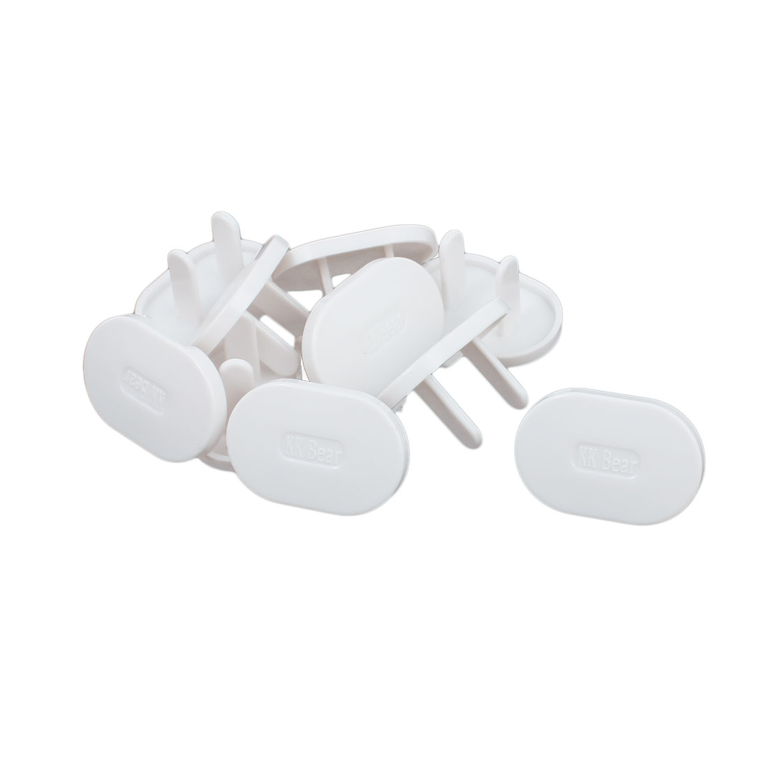 10 Pcs Plastic US Electric Outlet Safety Cover Cap Socket Protector Connector Guard White