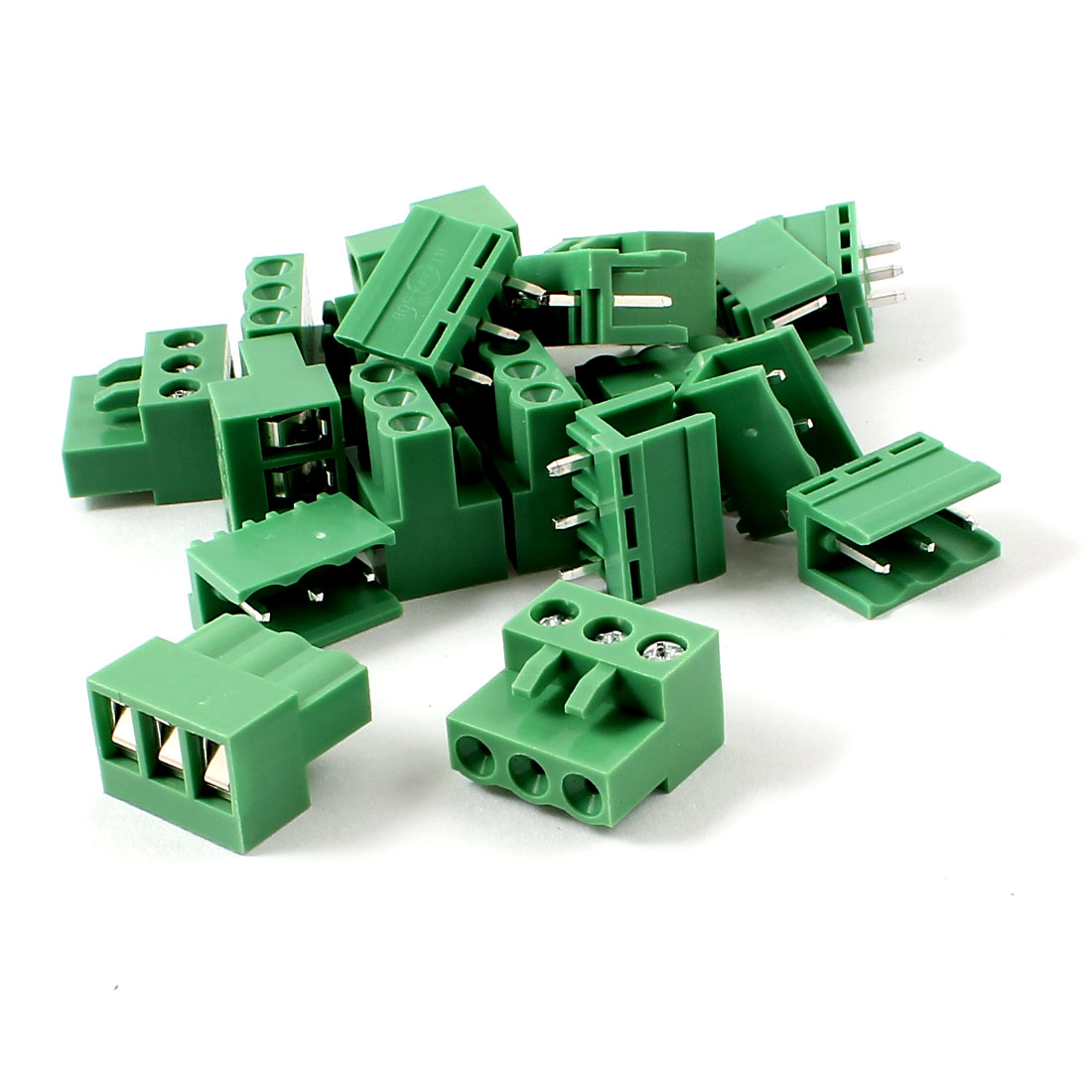 10 Pairs AC 300V 10A 5.08mm Spacing 3P Screw Pluggable Terminal Block