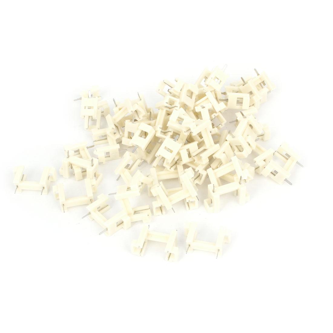 50pcs Plastic Shell DIP Type 5mm x 20mm Fuse Tube Holders White