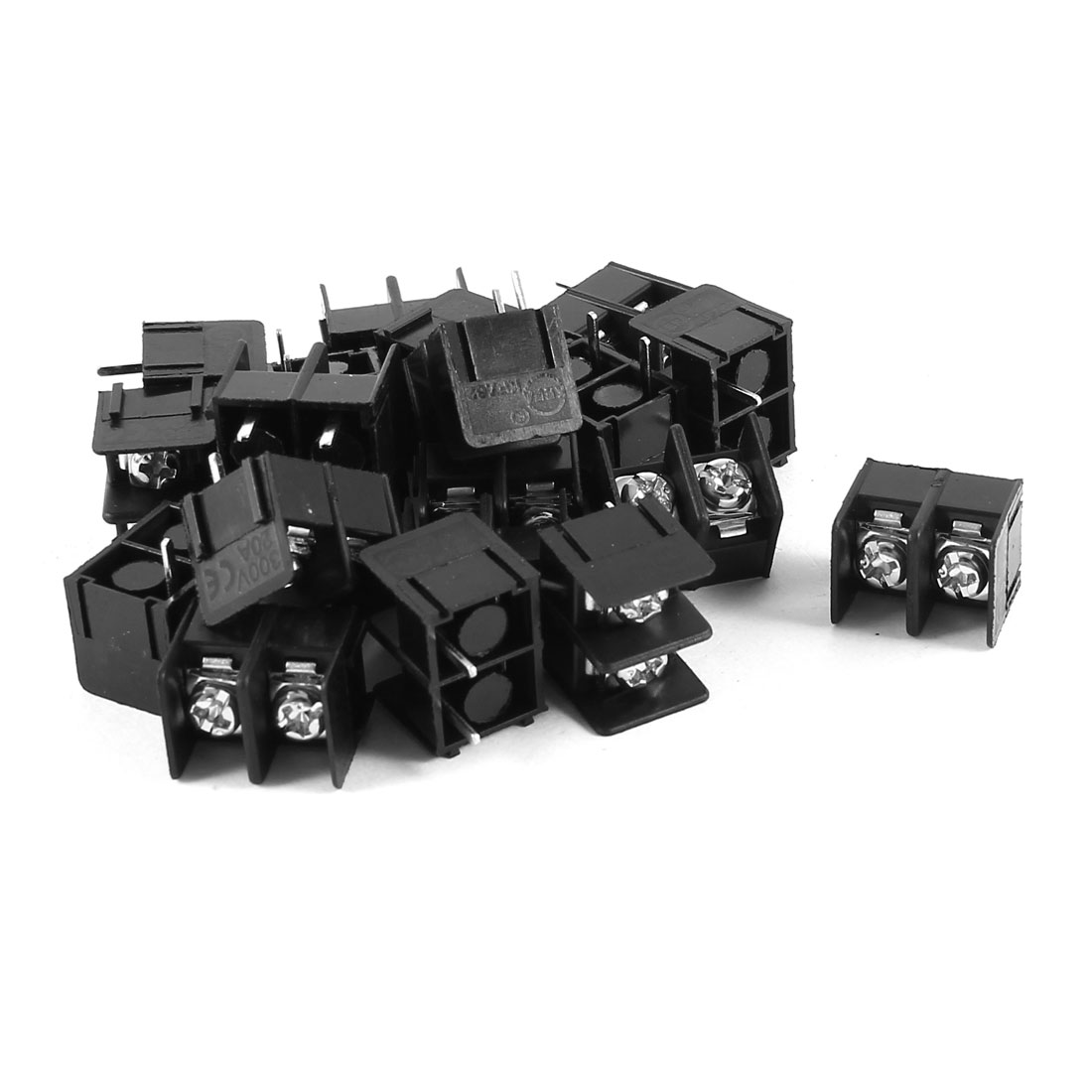 20 Pcs KF7.62-2P 2P 7.62mm Pitch Wire Connector Screw Terminal Barrier Blocks 300V 20A