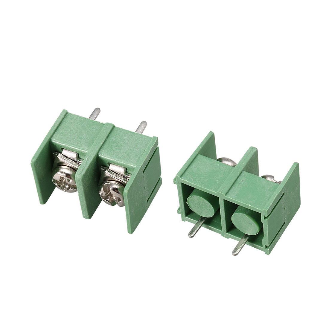 20pcs Straight 8.5mm Pitch Spacing PCB Board Mount Type Screw Terminal Blocks Connectors Green AC 300V 20A