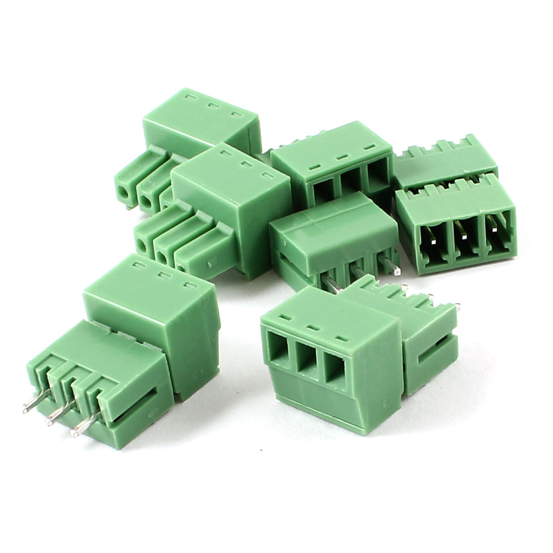 5 Pairs 3P 3.81mm Screw Pluggable Terminal Block Connector 300V 8A