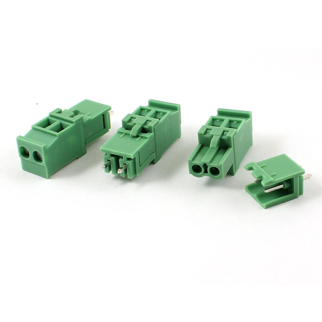 3 Pairs AC 300V 10A 5.08mm Spacing 2 Pin Screw Pluggable Terminal Block