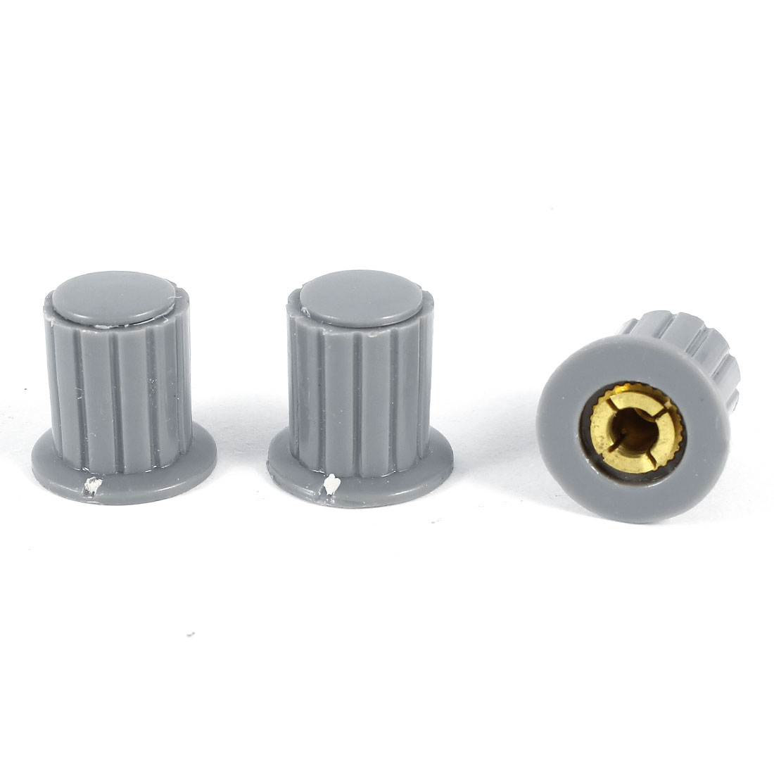 3 Pcs 4mm Hole Diameter Potentiometer Knob Cover Cap 16mmx16mm Gray KYP16-16-4J