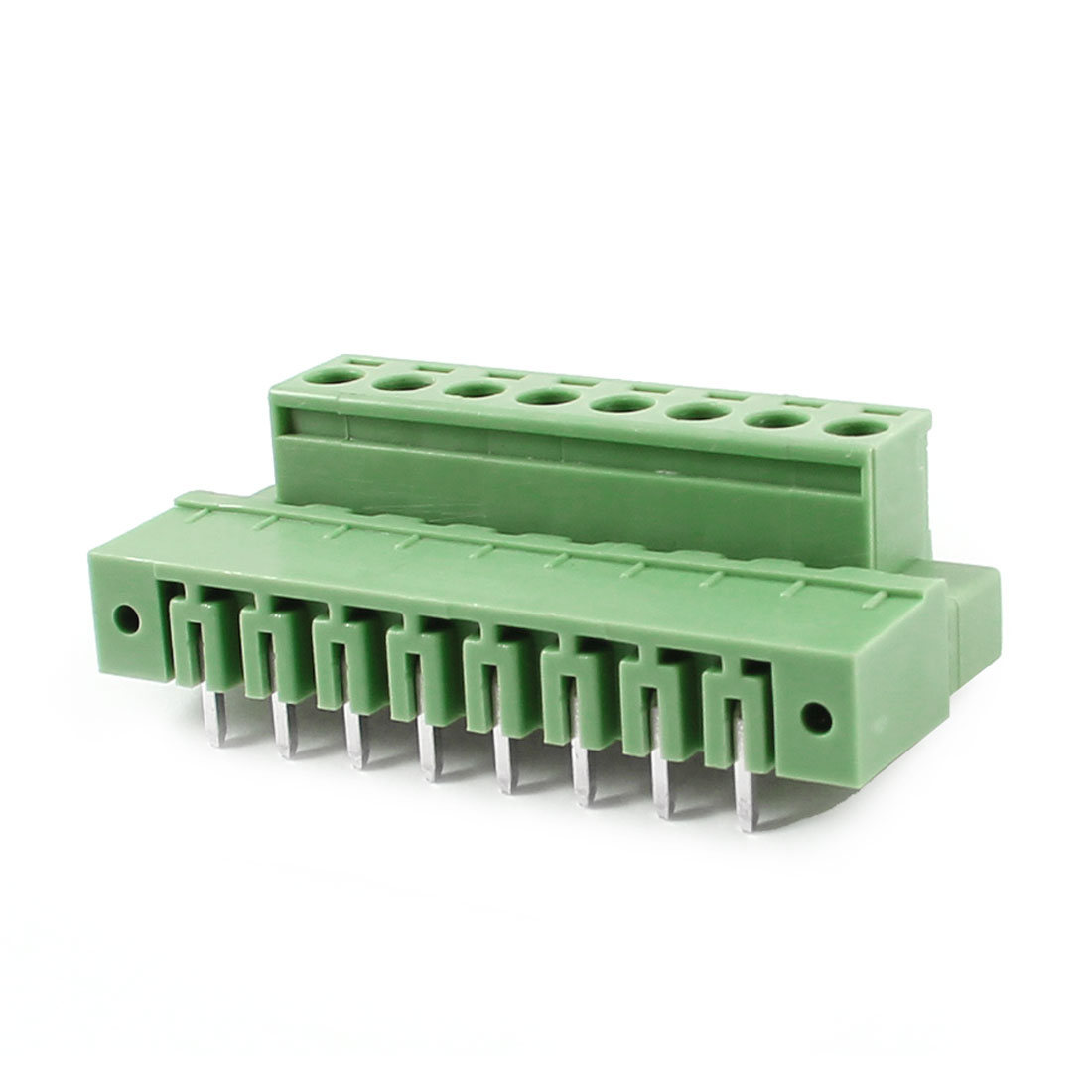 Pair AC 300V 10A 5.08mm Spacing 8 Pin Screw Pluggable Terminal Block