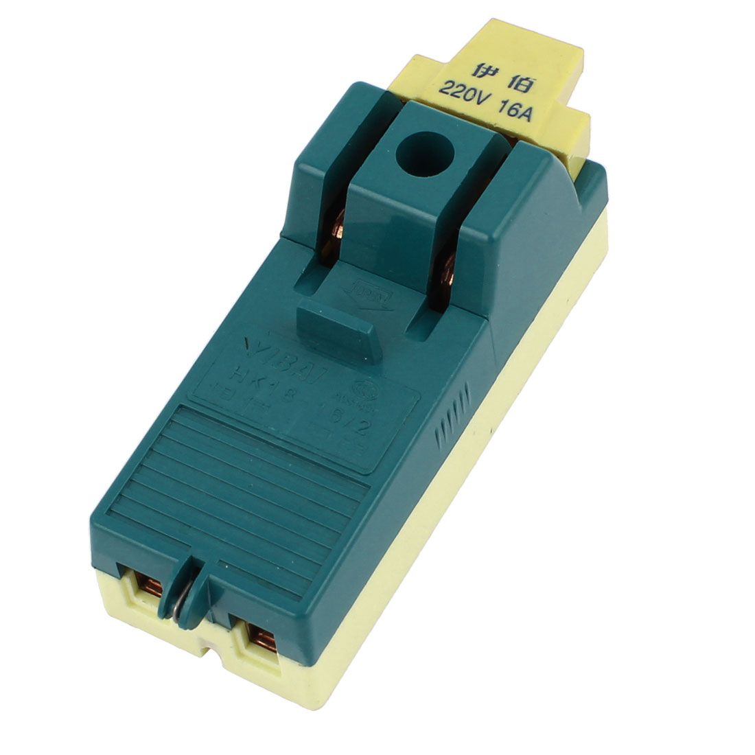 HK18-16/2 Single Phase Blade Electric Power Switch Green 220V 16A