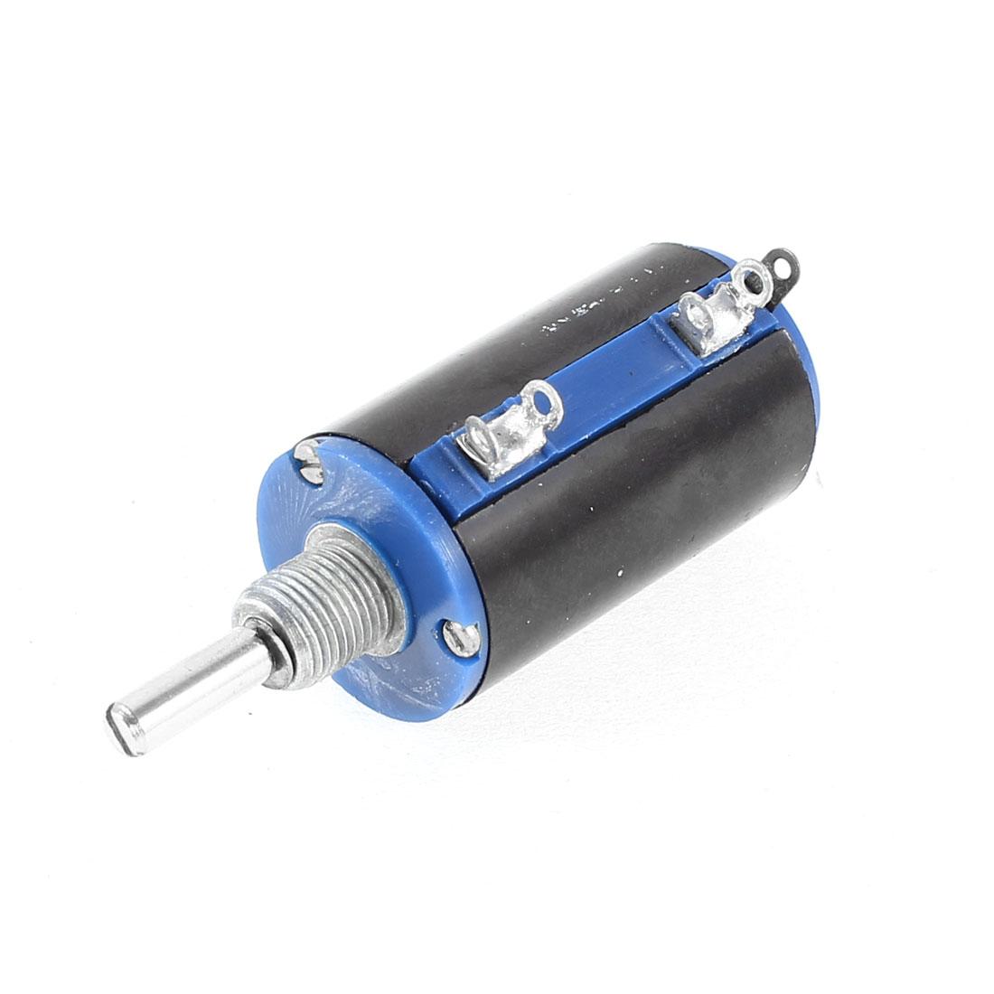 WXD3-13-2W 22K Ohm 5% Tolerance 2W 38 x 21mm Multi Turn 3 Terminals Rotary Wire Wound Potentiometer
