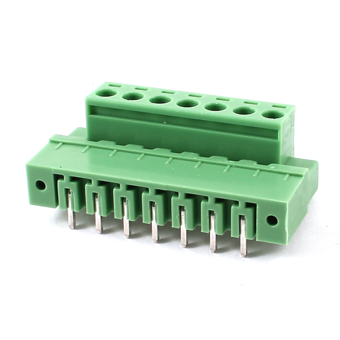 Pair 7 Pin 5.08mm Pitch Screw Pluggable Terminal Block Connector 300V 10A