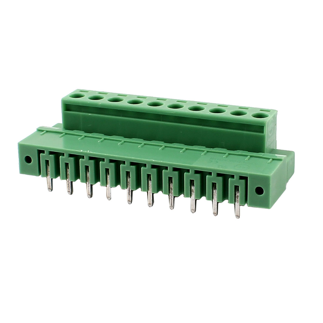 Pair Single Row 10 Positions 5.08mm Right Angle Pluggable Terminal Block