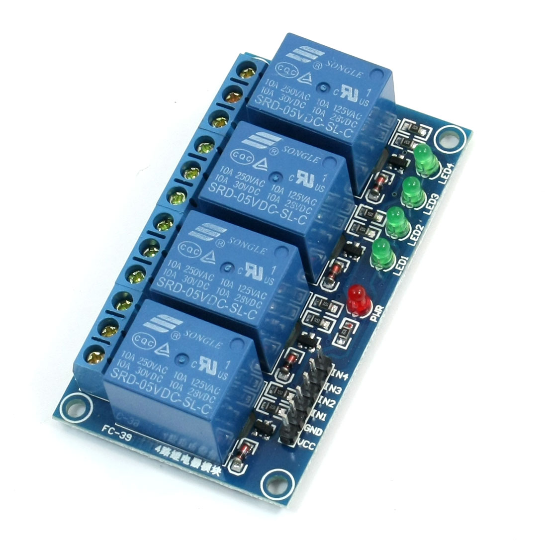 DC5V Coil 4 Channel 4CH High Level Trigger Relay Module for PIC AVR DSP ARM