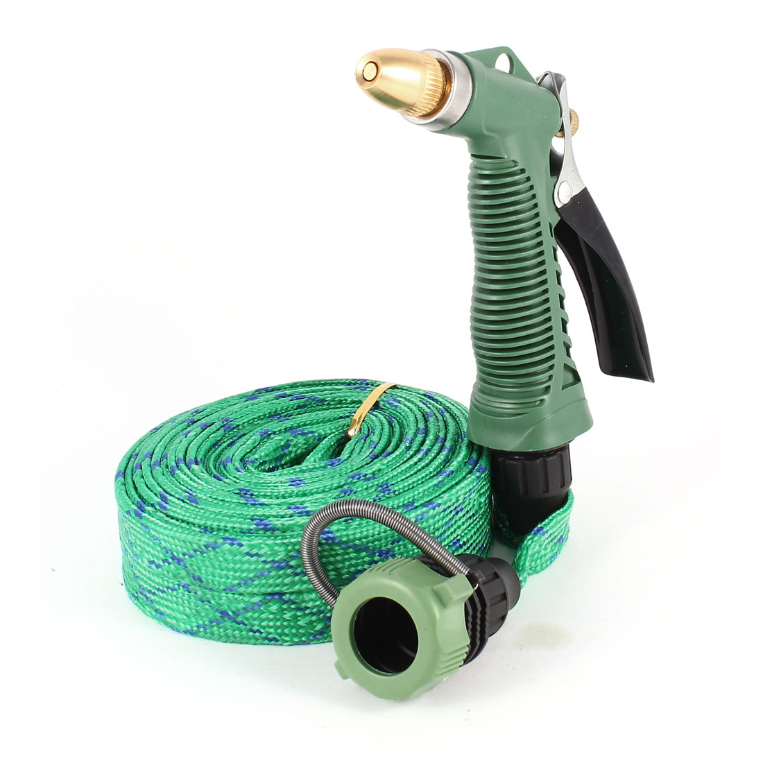 5M Long Nylon Hose Garden Watering Car Auto Washing Gun Sprayer Green Black