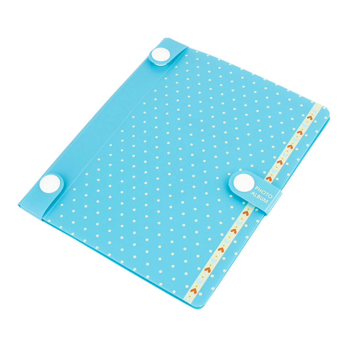 Dots Pattern Cover 10 Clear Pages DIY Scrapbook Photo Album Teal Blue
