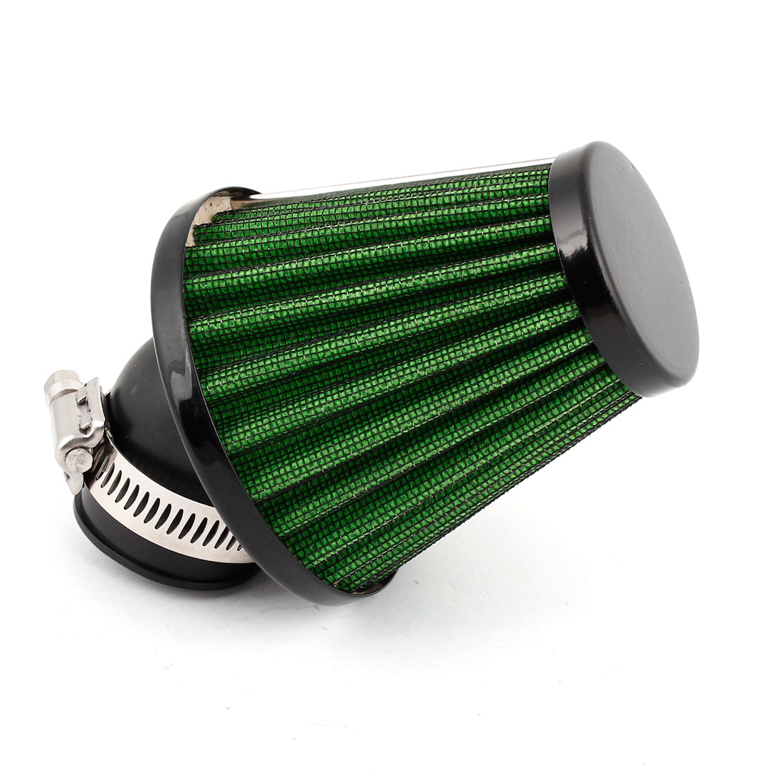 47mm Dia Green Shell Adjustable Clamp Air Filter Spare Part for Motorbike Scooter