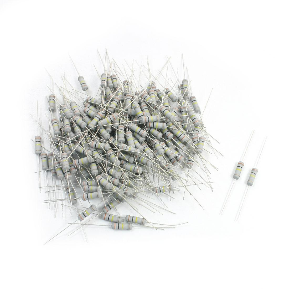 200Pcs 300K Ohm 1W 5% Axial Leads Metal Oxide Film Resistor Resistance