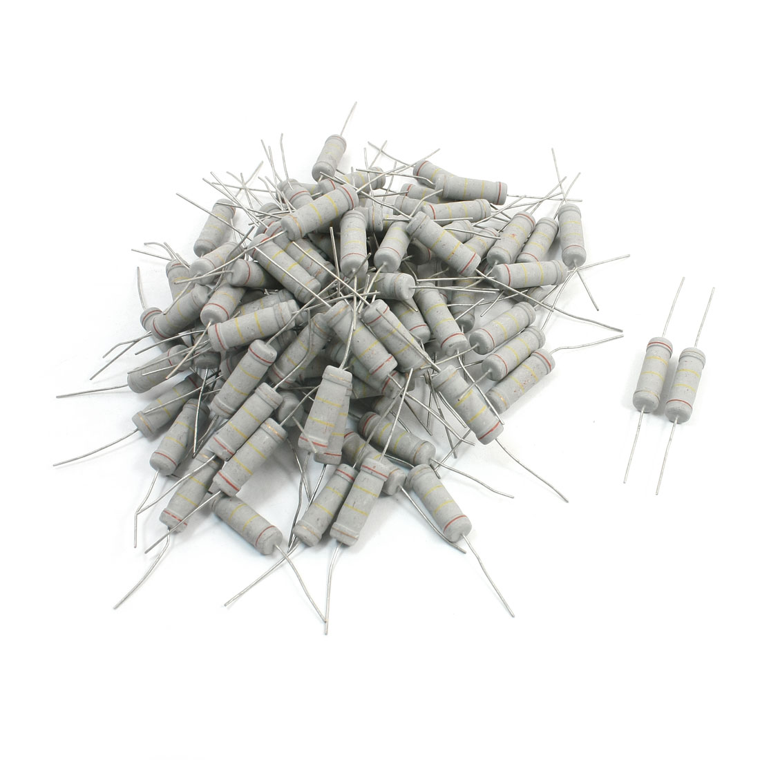 100Pcs Electronic Component 240K Ohm 5W 5% Metal Oxide Film Resistor