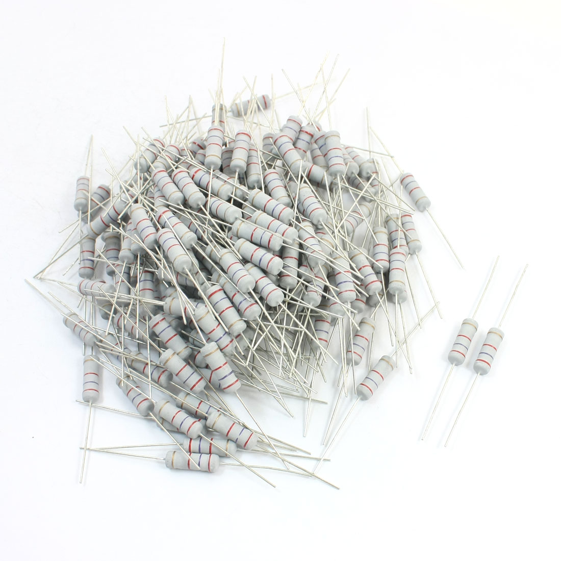 2.7K Ohm 5W 5% Tolerance Through Hole Metal Oxide Film Resistor 200Pcs