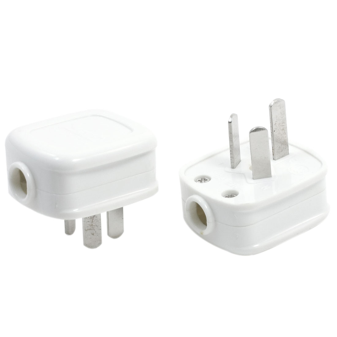 AC 250V 10A AU Plug Earth Grounded 10mm Cable Power Connector Adapter 2pcs