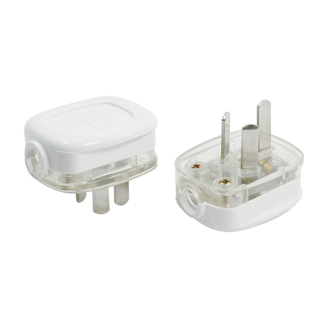 AC 250V 10A AU Plug Home Power Adapter Connector 2pcs for 10mm Cord Cable