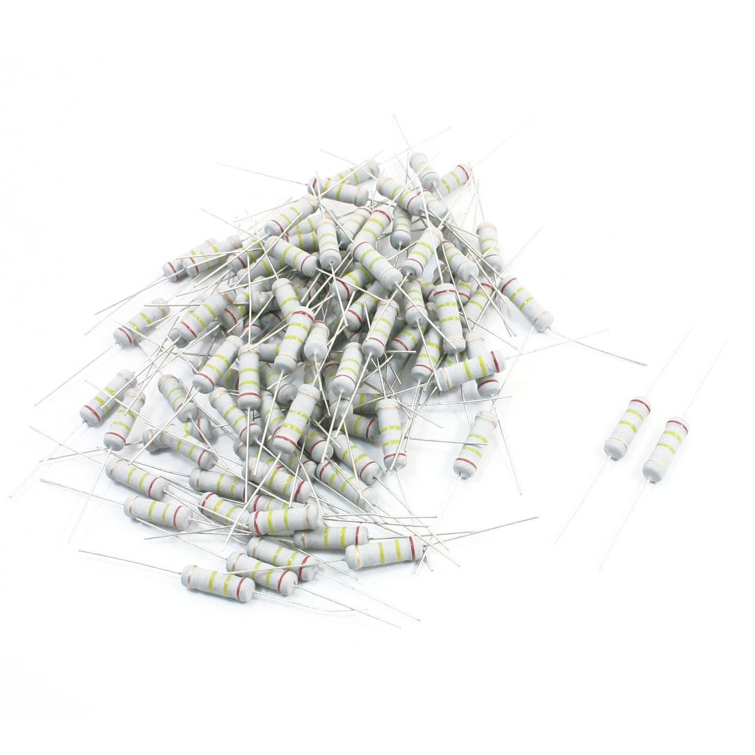 100Pcs 240K Ohm 2W 5% Axial Leads Metal Oxide Film Resistor Resistance