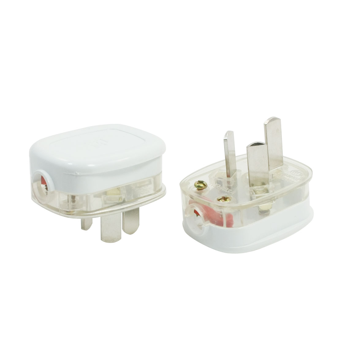 AC 250V 16A AU Plug Plastic Electric Adapter 2pcs for 10mm Cord Cable