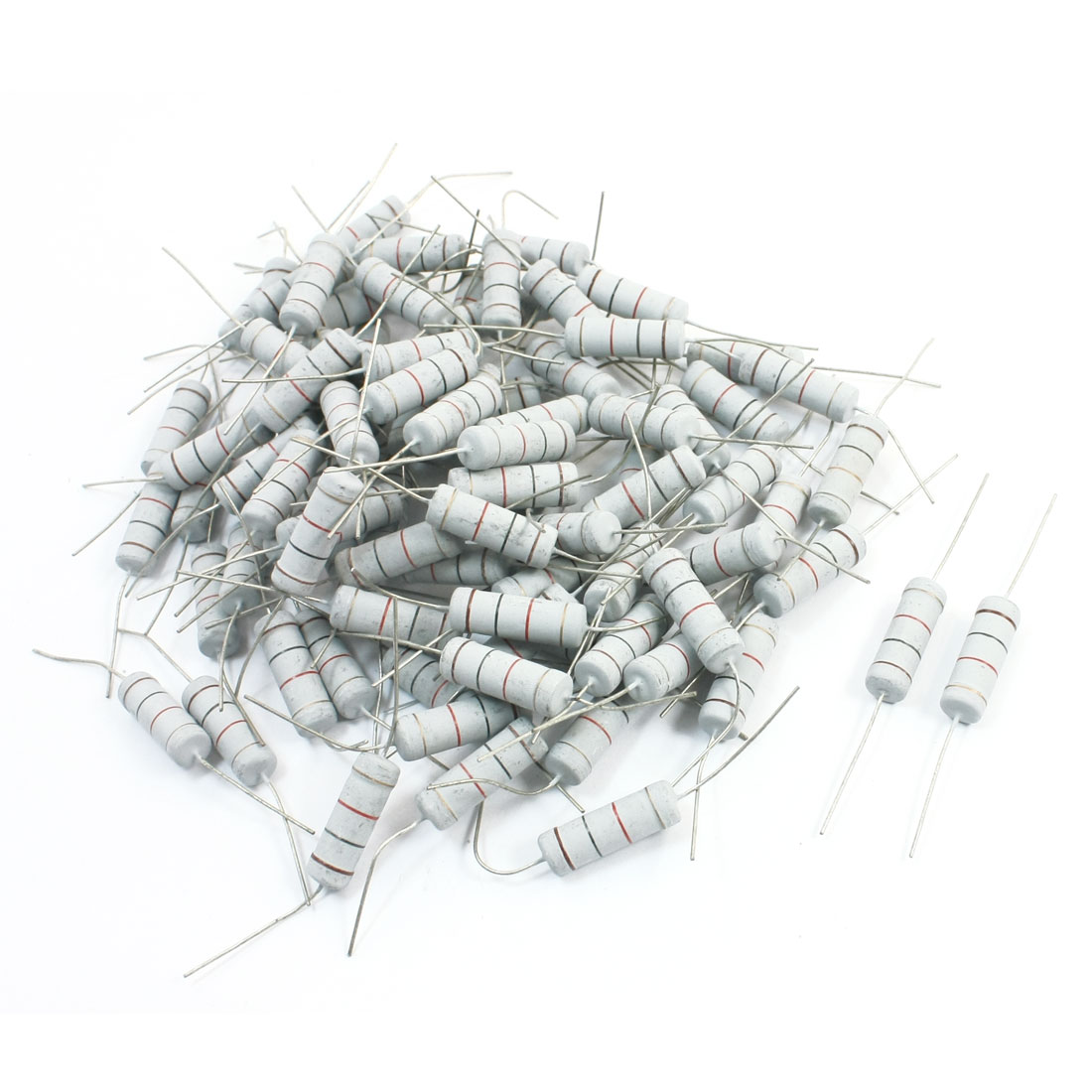 100Pcs Electronic Component 1K Ohm 5W 5% Metal Oxide Film Resistor