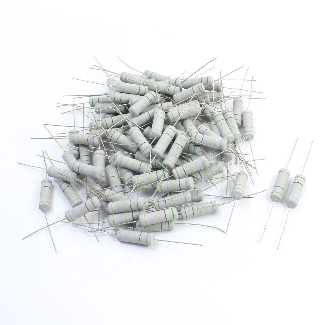 100Pcs 510K Ohm 5W 5% Axial Leads Metal Oxide Film Resistor Resistance