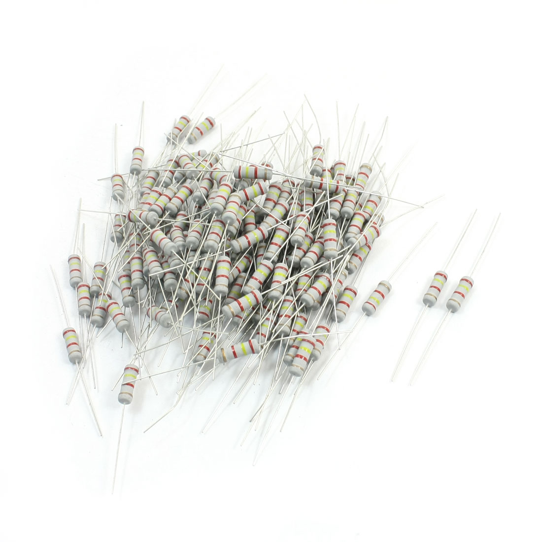 200Pcs Electronic Component 2.4K Ohm 1W 5% Metal Oxide Film Resistor