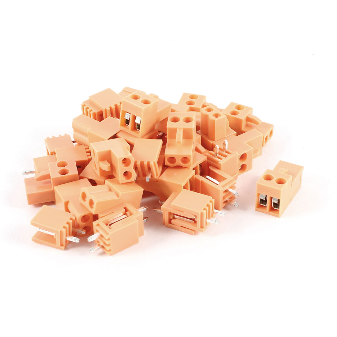 20 Pieces Straight 2Pin 3.96mm PCB Screw Terminal Block 300V 10A AWG14-26 Orange