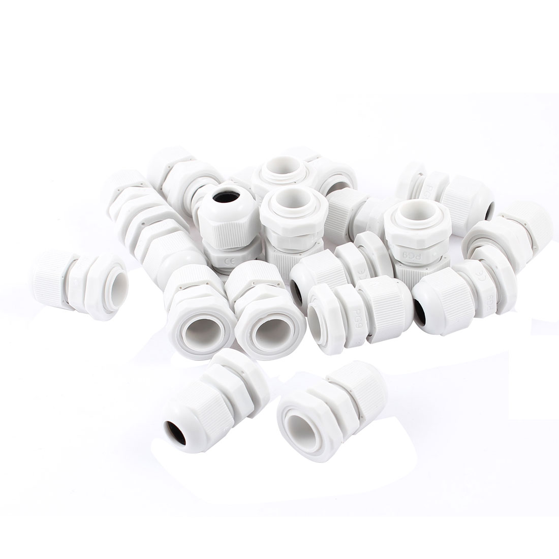 20 Pcs 4mm-8mm Diameter Cable Glands Plastic Fasteners PG9 Off White