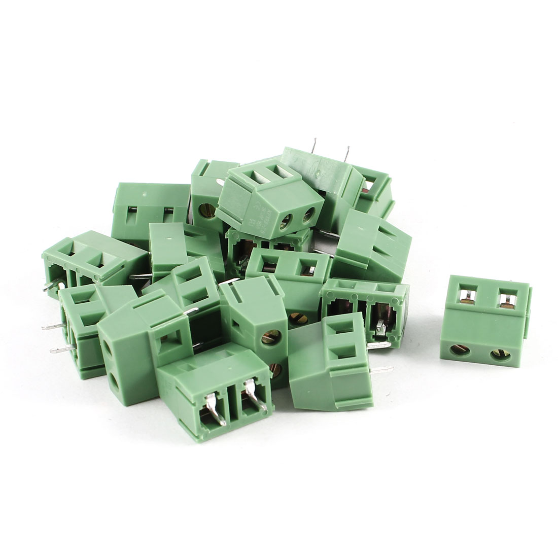 20 Pcs 2P 2Pins 7.5mm PCB Wire Plug-in Screw Terminal Block Connectors 300V 10A KF128-7.5