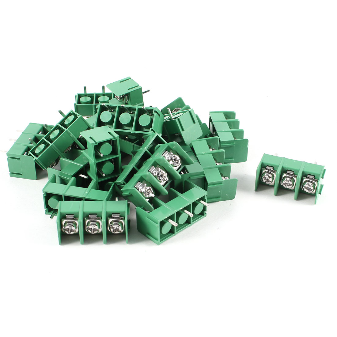 20 Pcs 3Pin 8.5mm Spacing Wire Connector Screw Terminal Barrier Blocks 300V 20A
