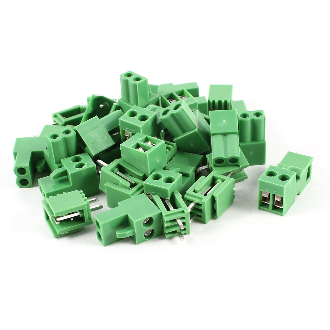 20 Pcs Green HT3.96 HT396K 3.96mm 2Position Screw Pluggable Terminal Block Connector 300V 10A