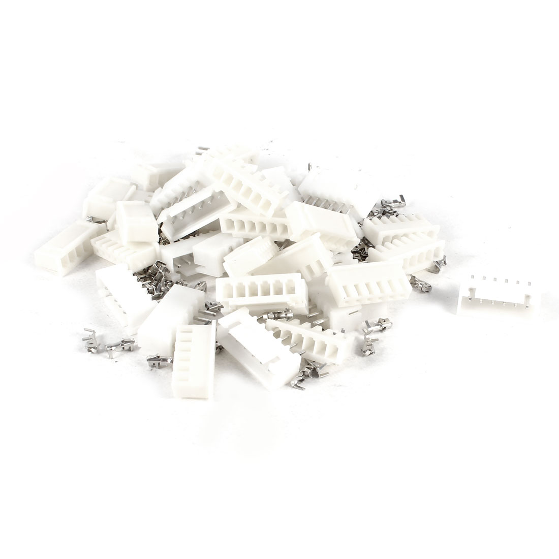 20 Pcs XH2.54-6P Connector Kits 2.54mm Pitch 6P Pin Heathers + Bending Socket + Terminals