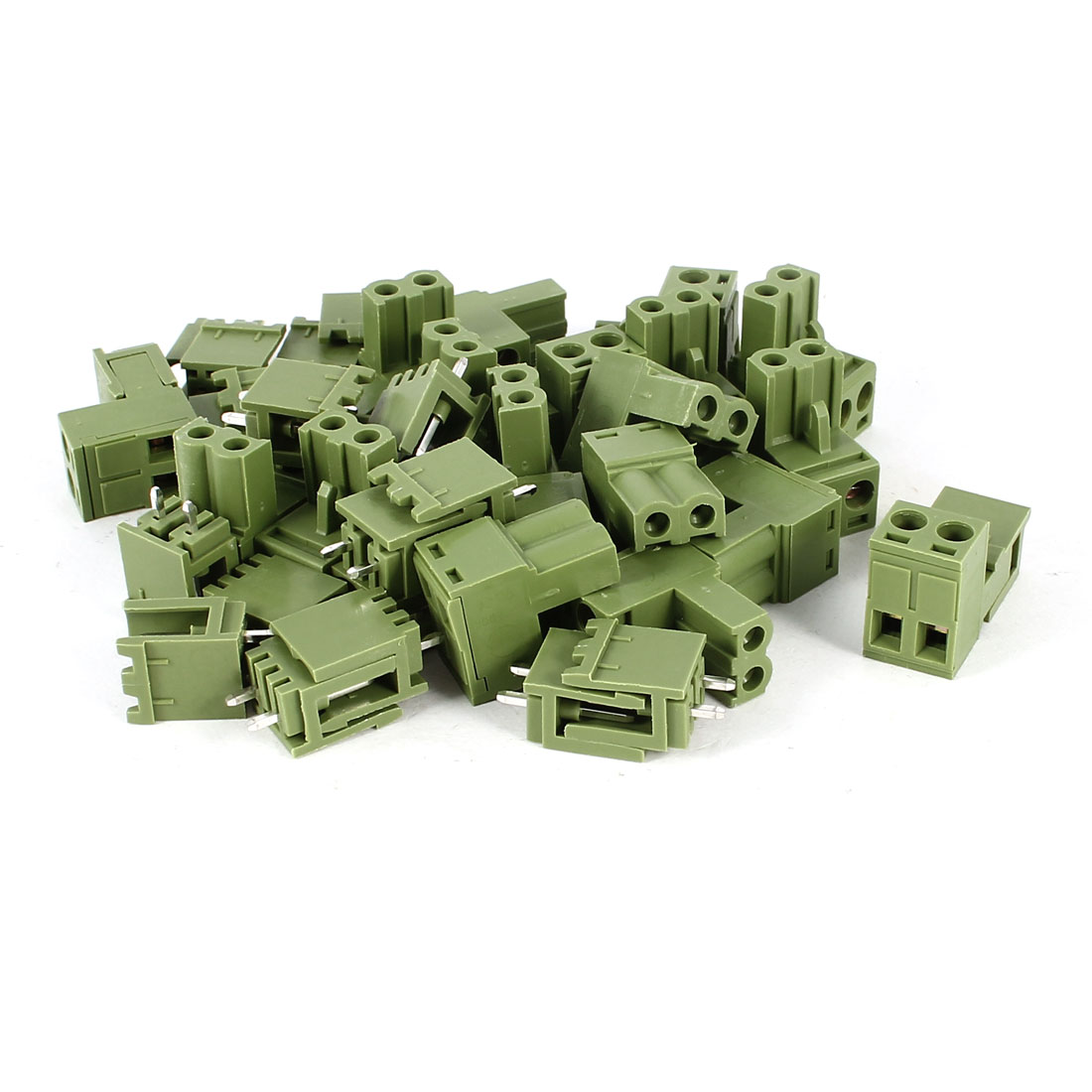 20 Pcs 2Pin 5.08mm Spacing PCB Screw Terminal Block Connector 300V 10A AWG12-24
