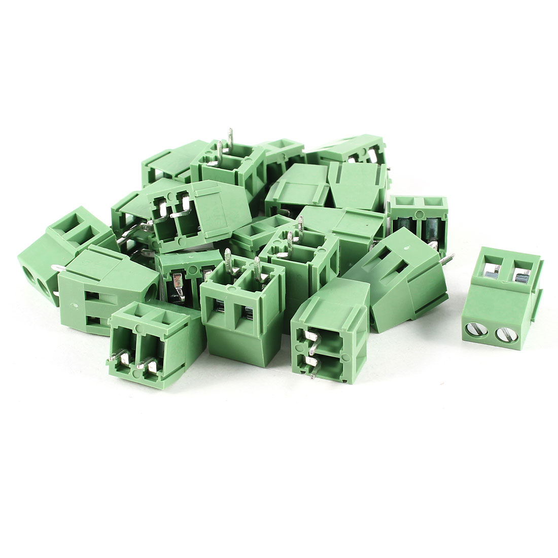 20 Pcs 2P 5mm Spacing PCB Mount Screw Terminal Block Connector 300V 10A AWG24-12