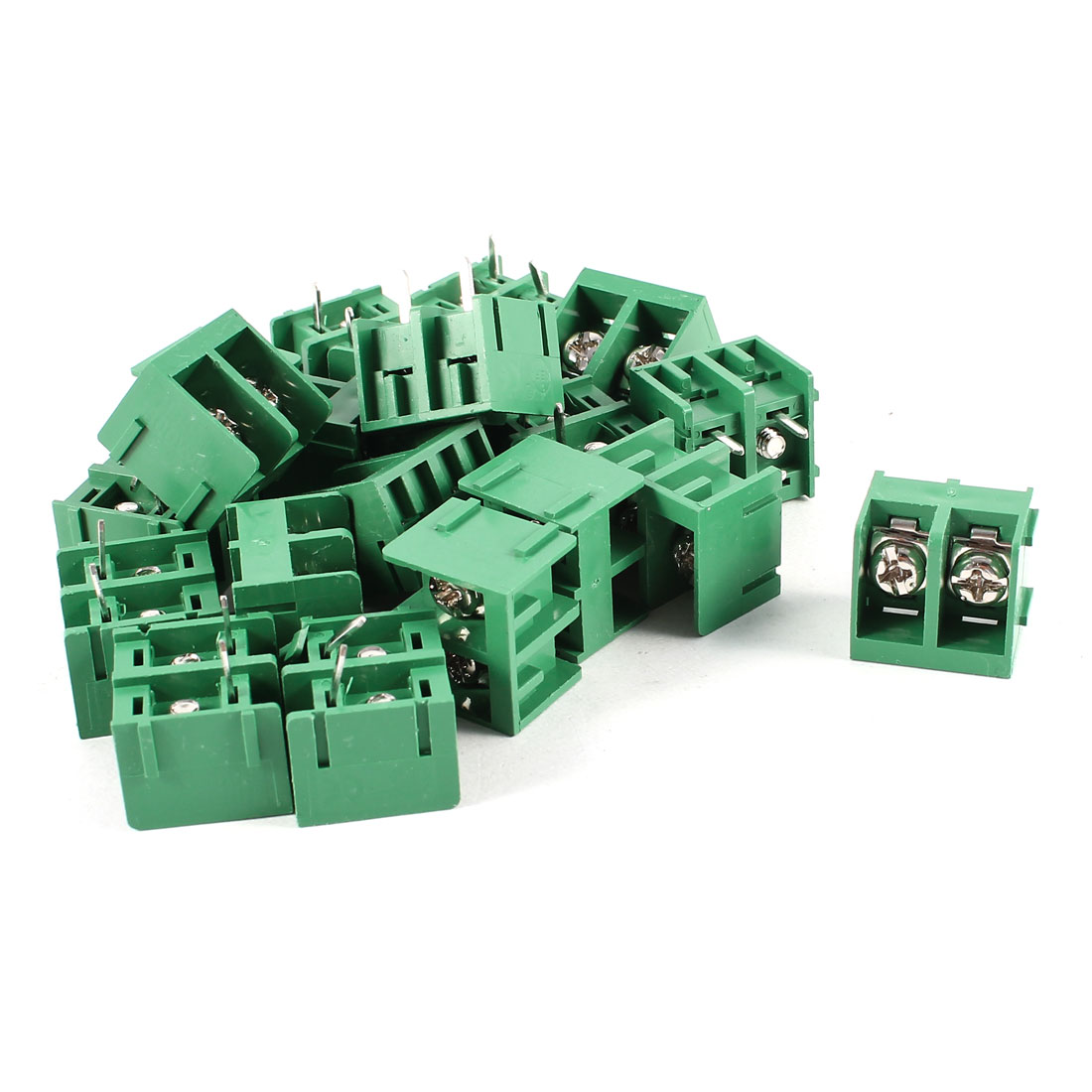 20 Pcs Green HB9500-2P 2 Position 2Pin PCB Mount 9.5mm Pitch Screw Terminal Barrier Blocks 300V 30A