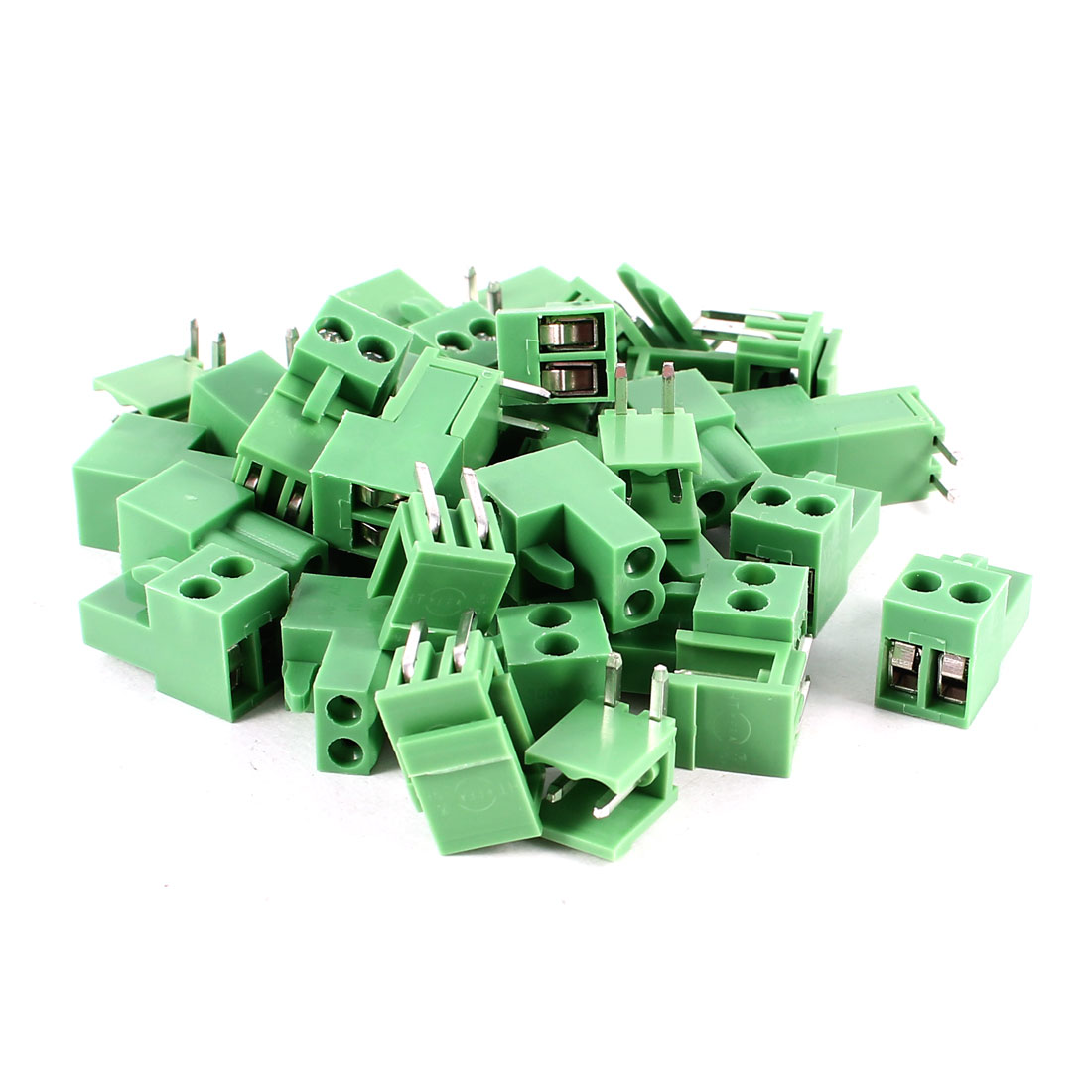 20 Pcs 2Pin 3.96mm Spacing PCB Screw Terminal Block Connector 300V 10A AWG14-26