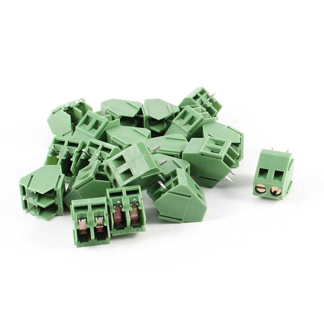 20 Pcs 2P 5mm Spacing PCB Screw Terminal Block Connector 300V 10A AWG22-10
