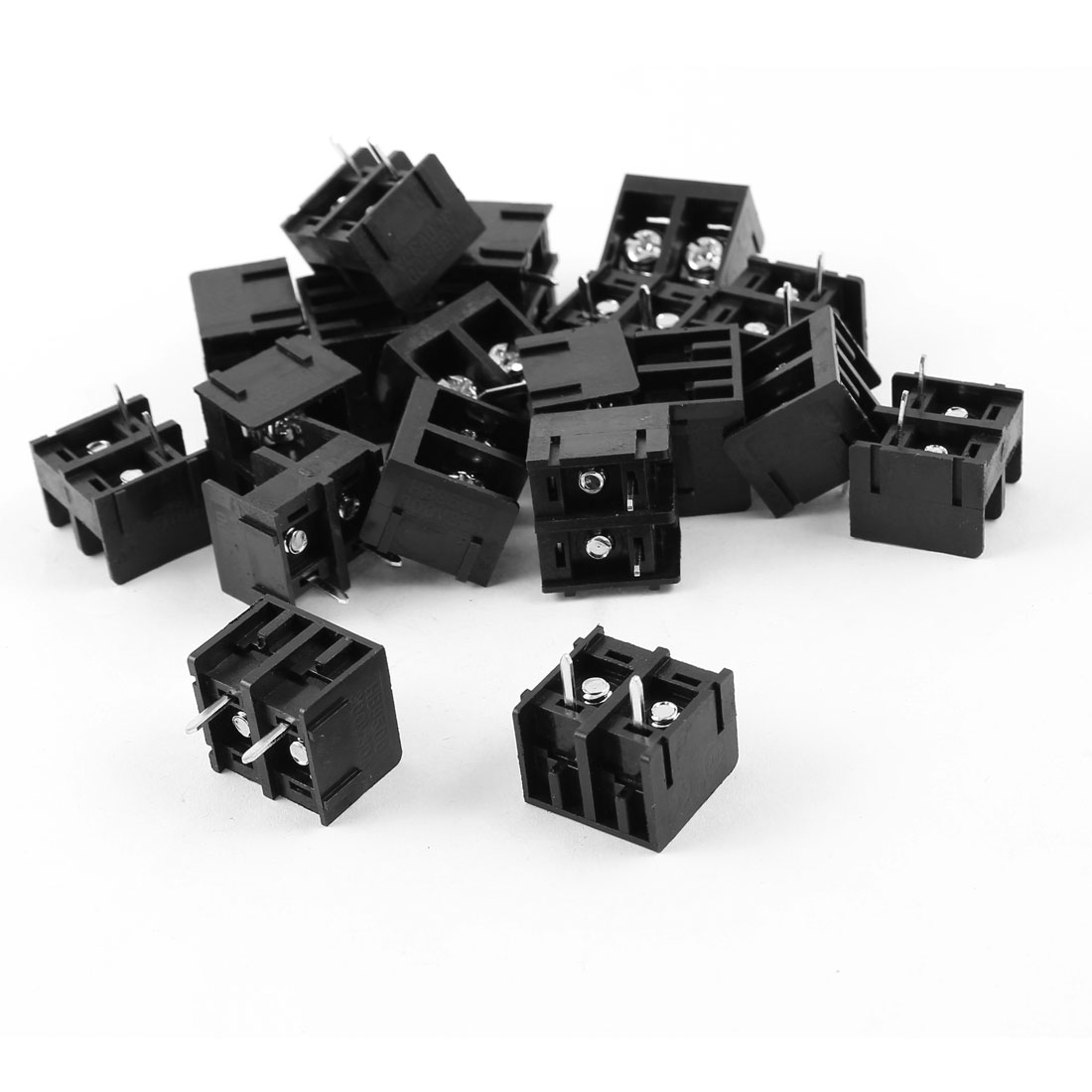 20pcs 2 Pole 9.5mm Spacing 2 Position 300V 30A Screw Terminal Block