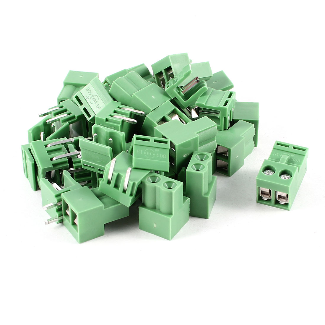 20 Pcs 2Pin 5.08mm Spacing PCB Screw Terminal Block Connector 300V 10A AWG14-26