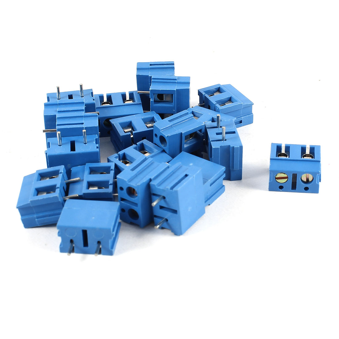 20 Pcs Blue KF370-2P 2 Position 7.5mm Pitch PCB Mount Screw Terminal Block Connectors 300V 16A