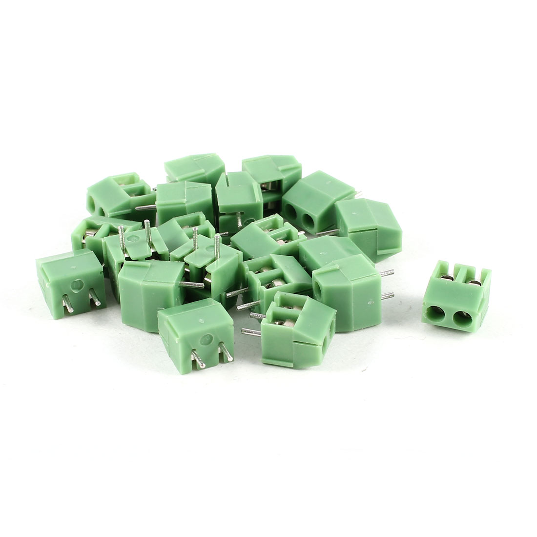 20 Pcs Green KF396-2P 2 Position 3.96mm Pitch PCB Mount Screw Terminal Block Connectors 300V 10A