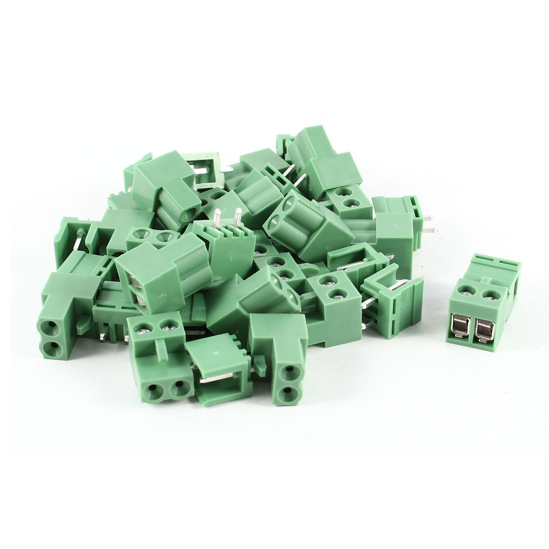 20 Pcs Green HT5.08 HT508K 2 Position 5.08mm Screw Pluggable Terminal Block Connectors 300V 10A