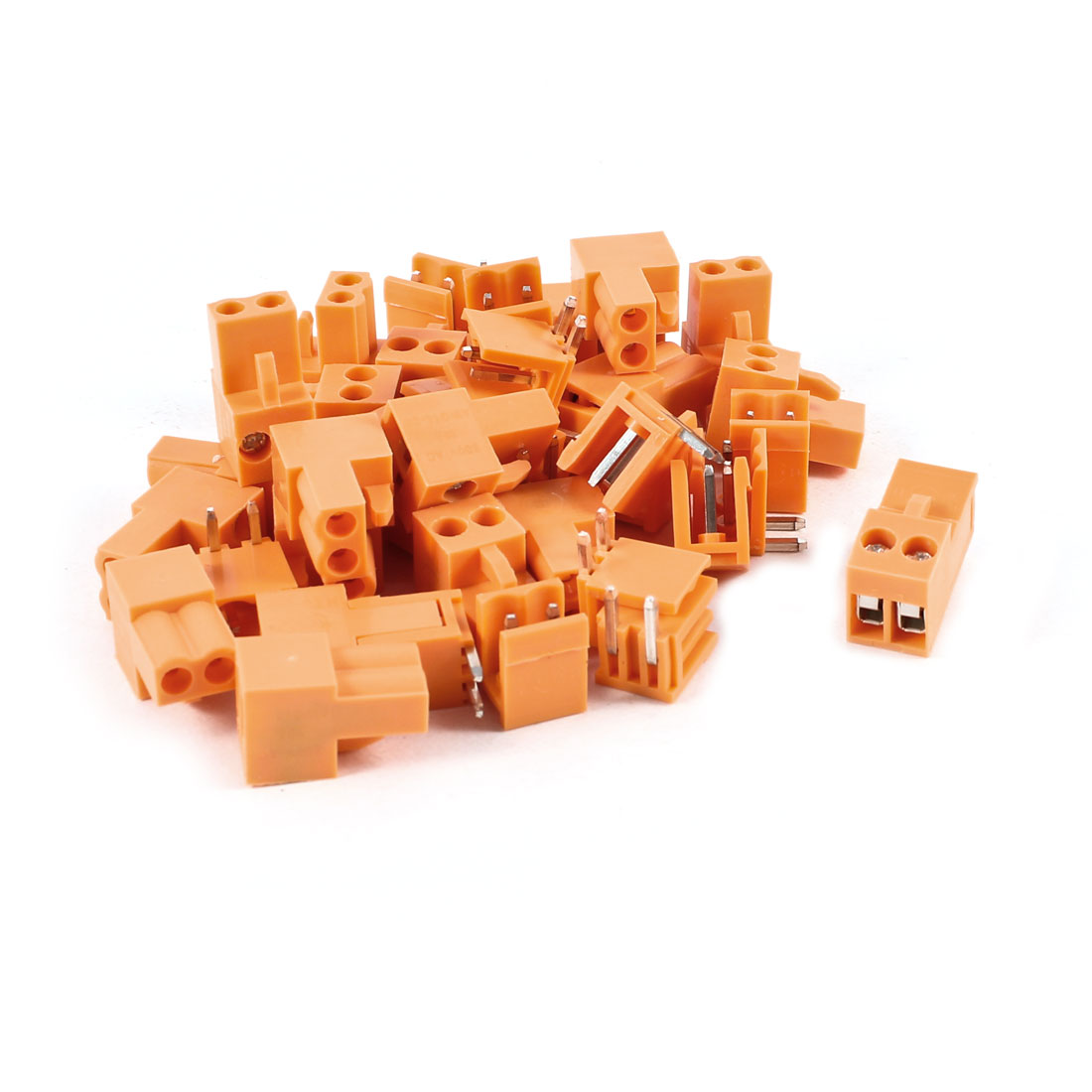 20 Pcs 2Pin 3.96mm Spacing PCB Screw Terminal Block Connector 300V 10A AWG14-26 Orange