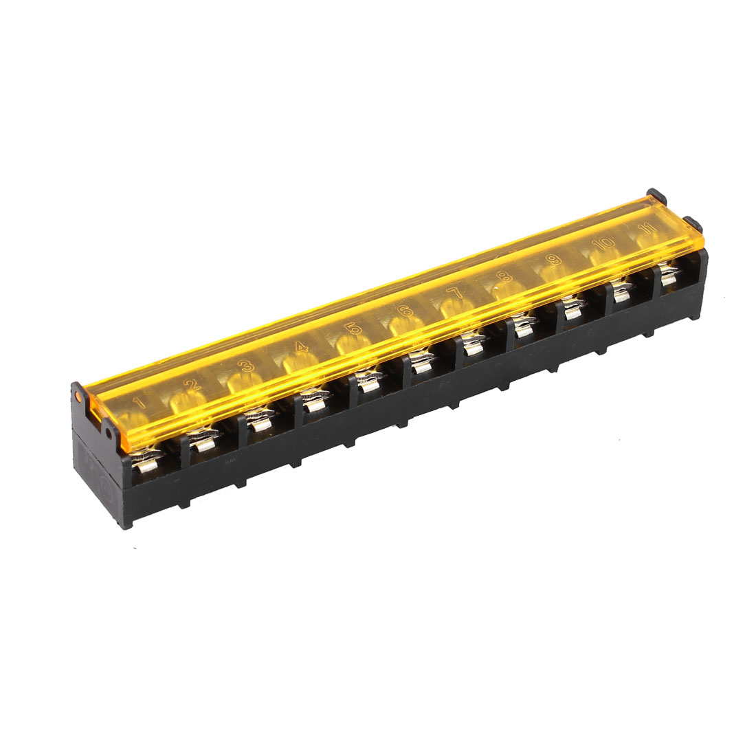 300V 30A 11 Positions 9.5mm Spacing Barrier Terminal Wiring Covered Board Block