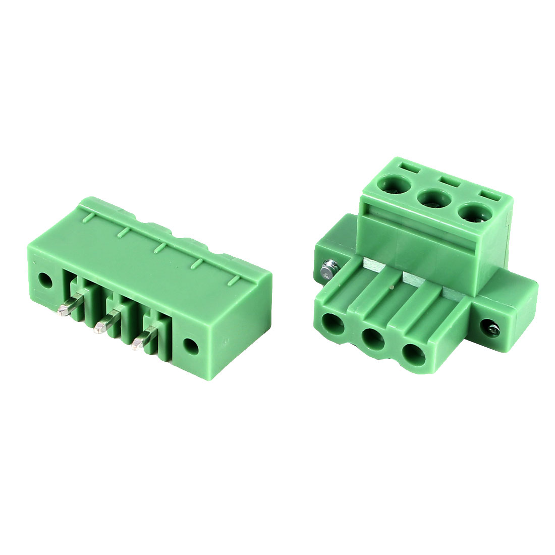 Green KF2EDGKM 5.08mm 3Position Right Angle 6Pin Pluggable Screw Terminal Block Connector 300V 10A