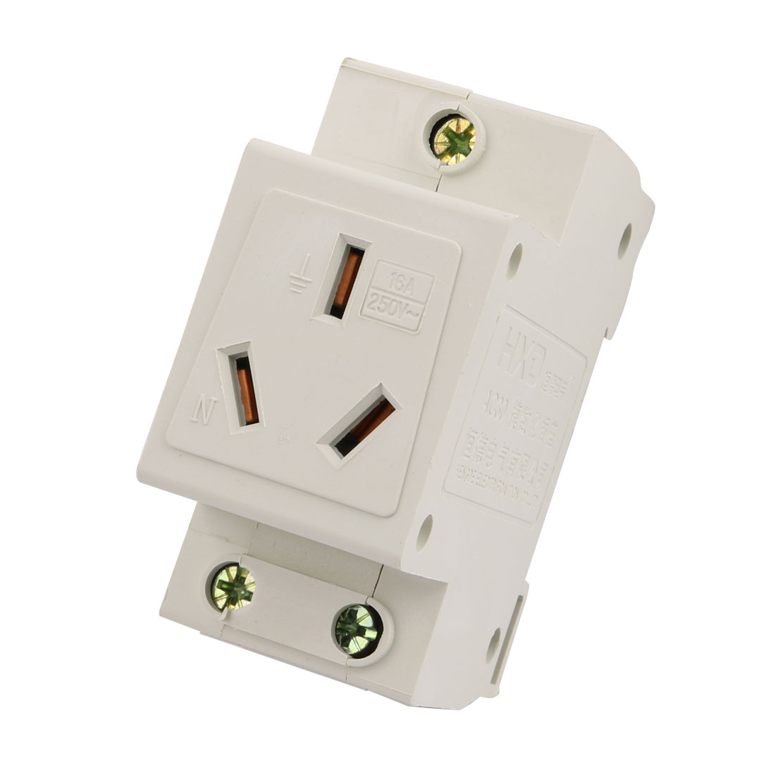 AU Plug AC 250V 16A Amps Single Pole Terminal Electric Modular Socket