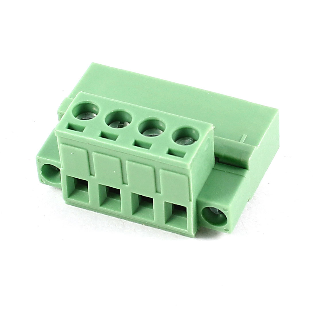 Green 4Pin 5.08mm Spacing PCB Screw Terminal Block Connector 300V 10A AWG24-12